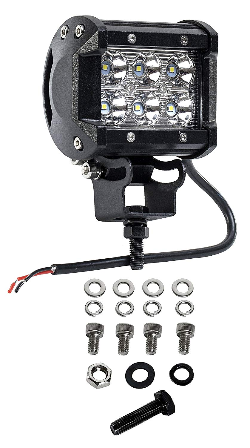 Cutequeen 4 X 18w 1800 Lumens Cree LED Spot Light for Off-road