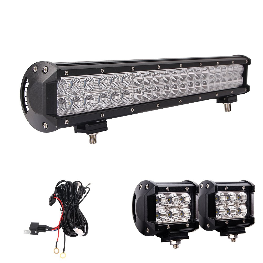 Northpole Light 20 Inch 126W Waterproof Spot Flood Combo LED Light Bar