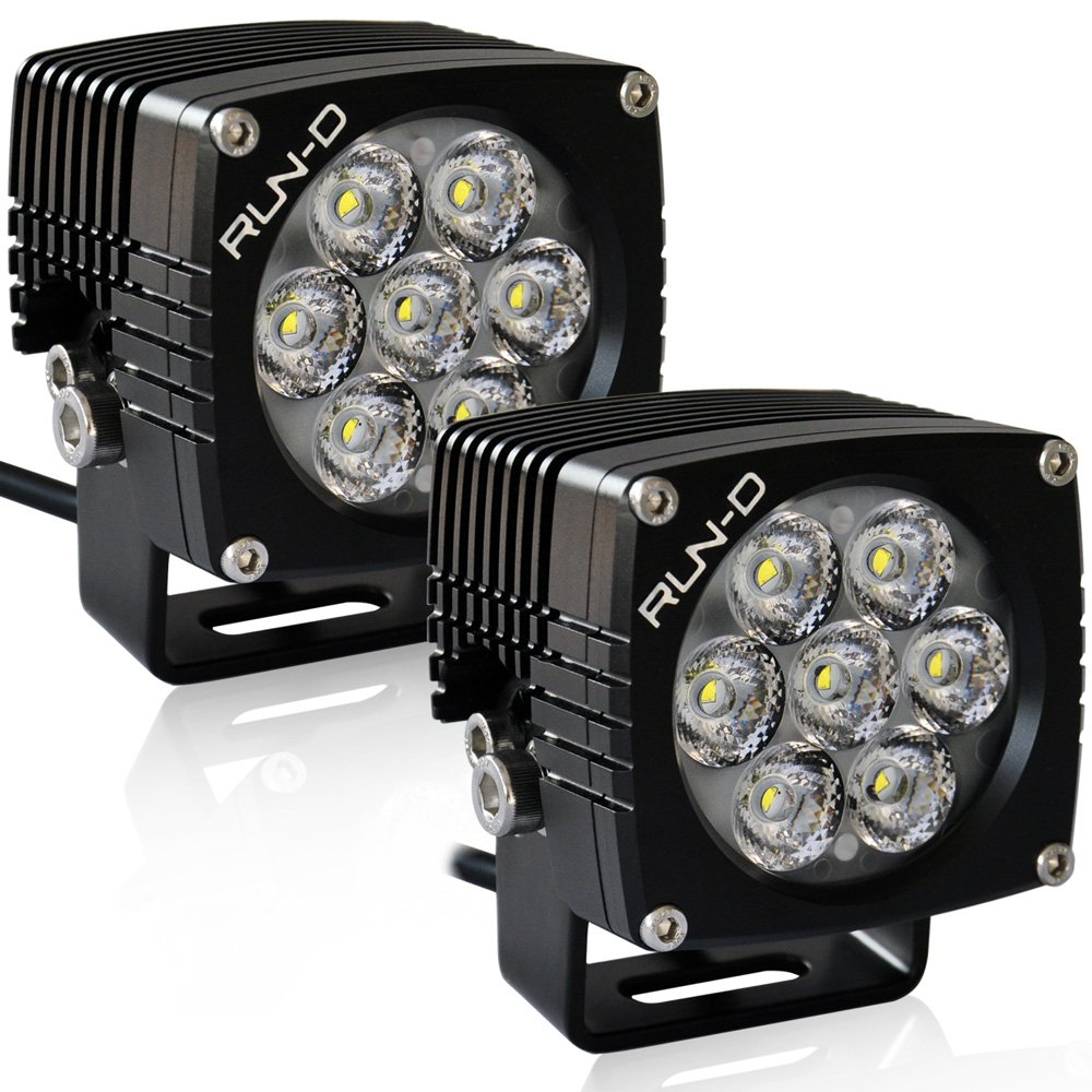 RUN-D Cube LED Driving Lights 35W 3 inch CREE Off Road Lights (10 Degrees Spot) - 1 Pair