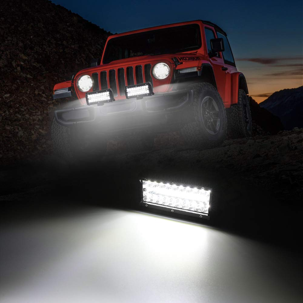 Spot Flood Combo Beam 25000LM Triple Row Light Bar Waterproof Led Work Lights